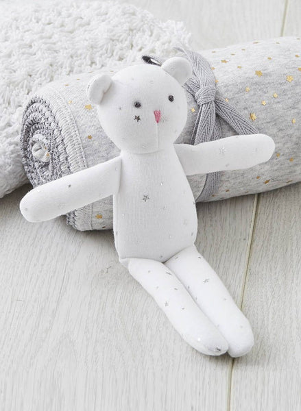 My First Teddy, Silver Stars - Gorgeous Soft Toy