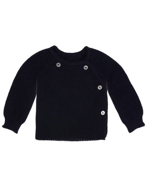 Knitted Navy Cardigan 3-5lb & 5-8lb