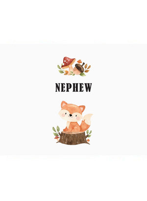 Nephew - New Baby Card - New baby card - Little Mouse Baby Clothing & Gifts