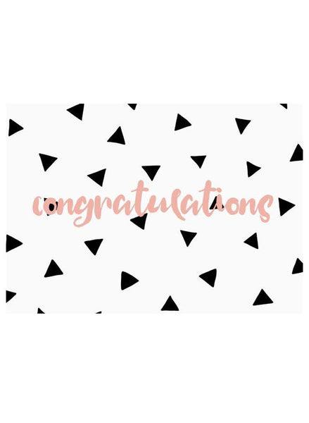 Triangle Drops, Congratulations - New Baby Card