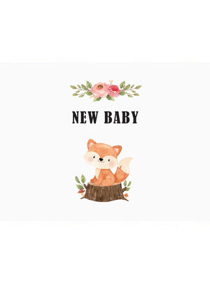 Woodland Fox - New Baby Card - New baby card - Little Mouse Baby Clothing & Gifts