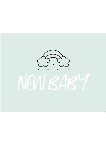 New Baby Rainbow Blue - New Baby Card