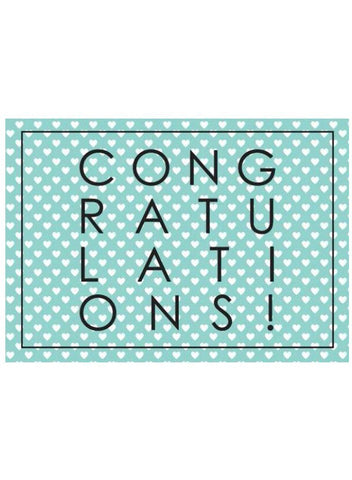 Hearteal Congratulations - New Baby Card