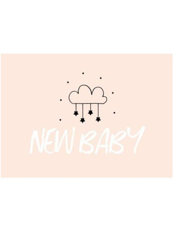 New Baby Star Cloud - New Baby Card