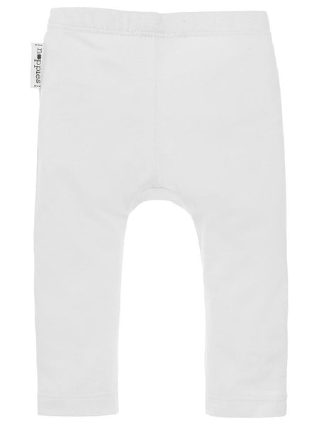 Organic Cotton Leggings - White (Tiny Baby)