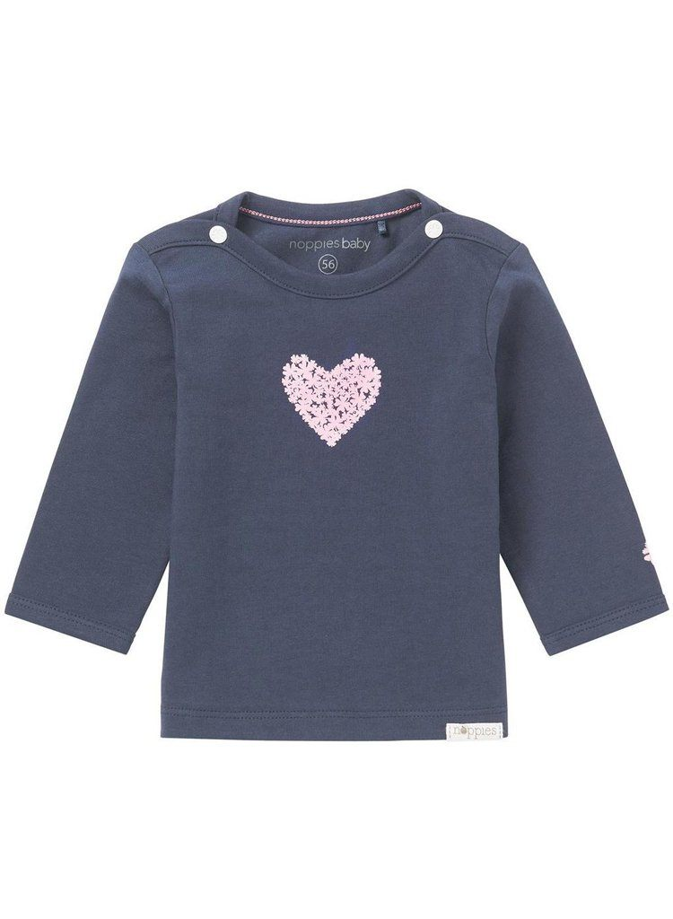 Navy T-Shirt with Pink Heart (3 Sizes)