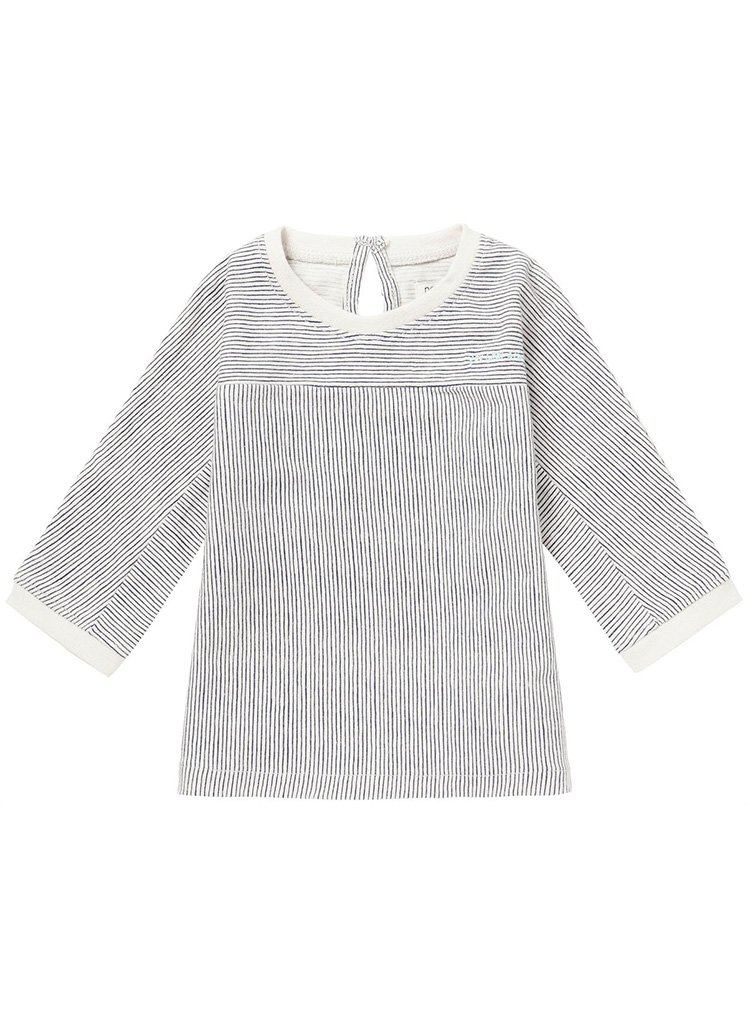 Breton Stripe Dress, Grey, Ribbed (Tiny Baby)