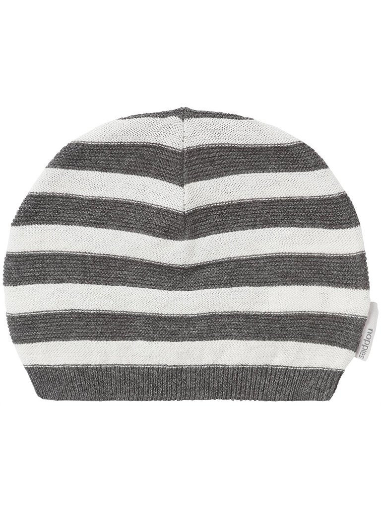 Light knitted striped cotton hat (Tiny Baby)