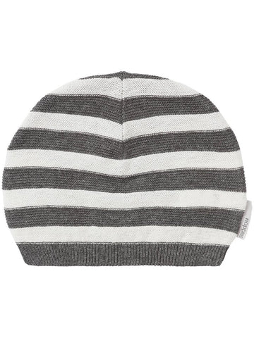 Light knitted striped cotton hat