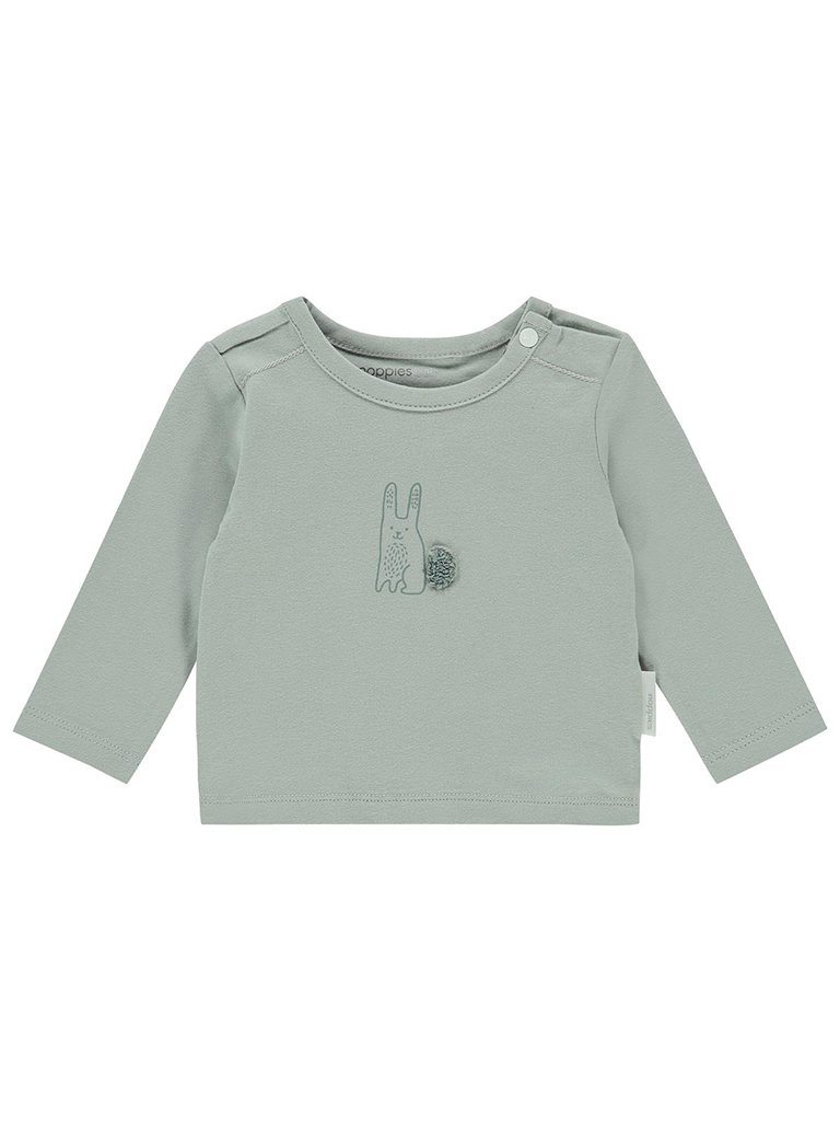 Mint Green Bunny Long sleeve Top - Organic (Tiny Baby, 4-7lb)