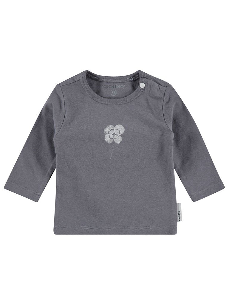 Grey Lucky Long sleeve Top - Organic (Tiny Baby, 4-7lb)