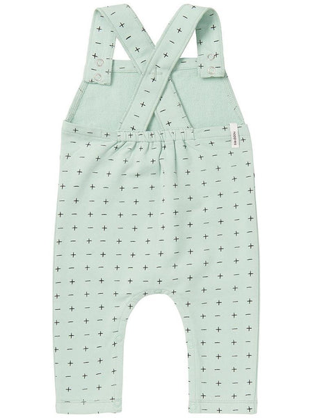 Organic Cross Mint Dungaree (Tiny Baby)