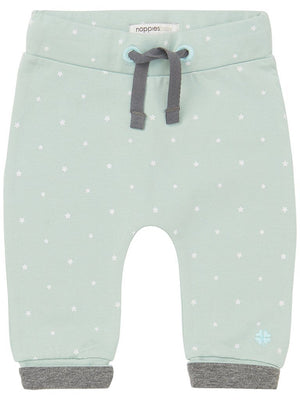 Soft Jersey Trousers - Mint with White Stars