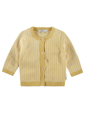 Organic Cotton Knitted Cardigan - Mustard (Tiny Baby)