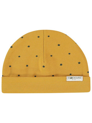 Mustard Star Hat - Reversible (Tiny Baby, 4-7lb)