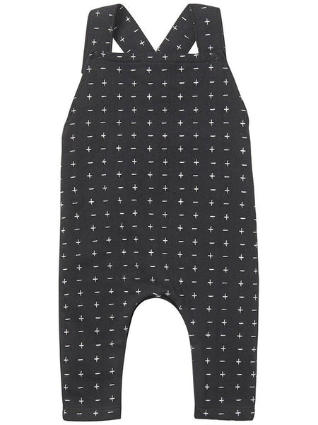 Trendy Navy Cross Dungaree, Organic (Tiny Baby)