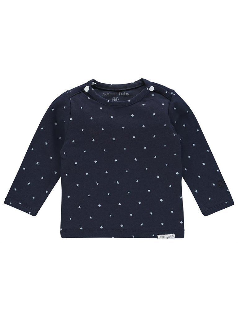 Organic Cotton Navy Star Print Top (Tiny Baby Clothes, 4-7lb)