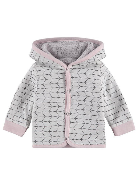 Organic Cotton Reversible Pink and Grey Jacket (4-7lb)