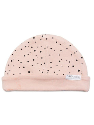 Dusky Pink With Black Dots Hat - Reversible (Tiny Baby, 4-7lb) - Hat - Noppies