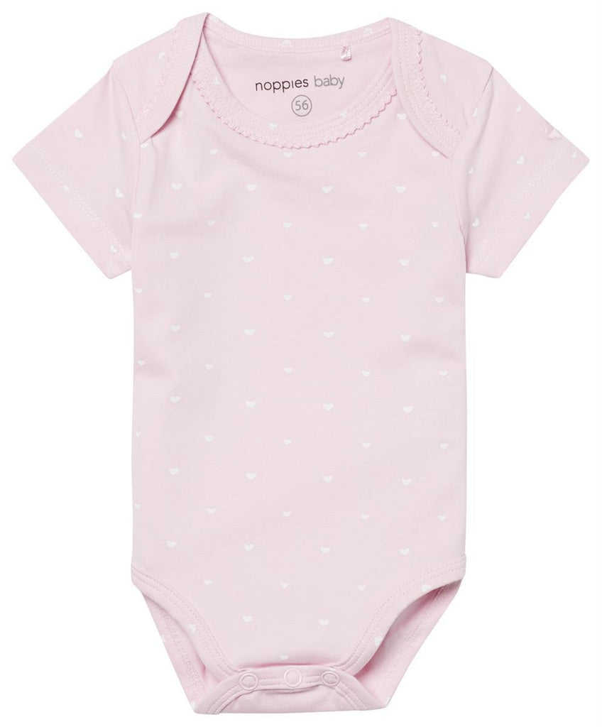 Organic Cotton Rose Heart Print Vest (Tiny Baby, 4-7lb)