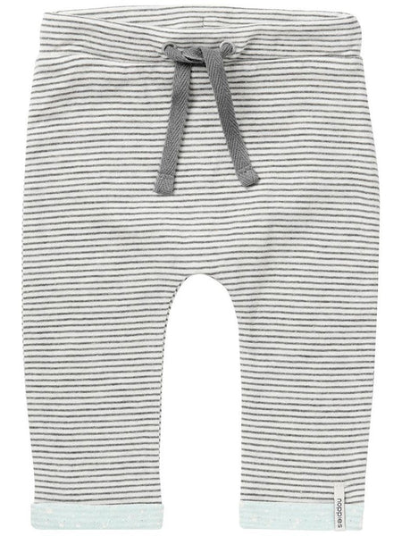 Jersey Trousers - Pin Stripe, Turquoise Trim  (Tiny Baby)