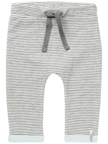 Soft Jersey Trousers - Pin Stripe with turquoise trim