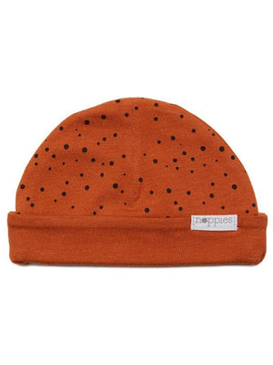Rust Polka Dot Hat - Reversible (Tiny Baby, 4-7lb) - Hat - Noppies
