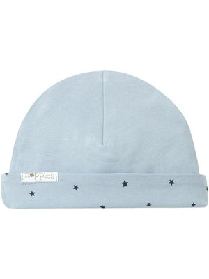 Blue Star Hat - Reversible (Tiny Baby, 4-7lb)