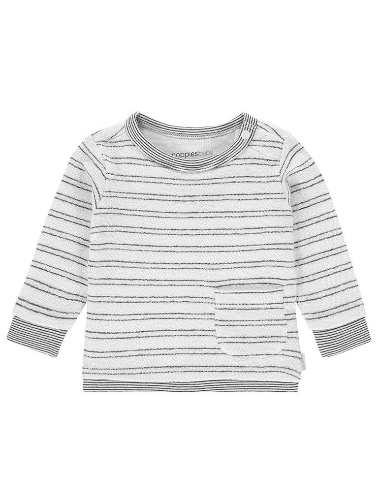Grey Stripe Sweater - Organic Cotton (Tiny Baby, 4-7lb)