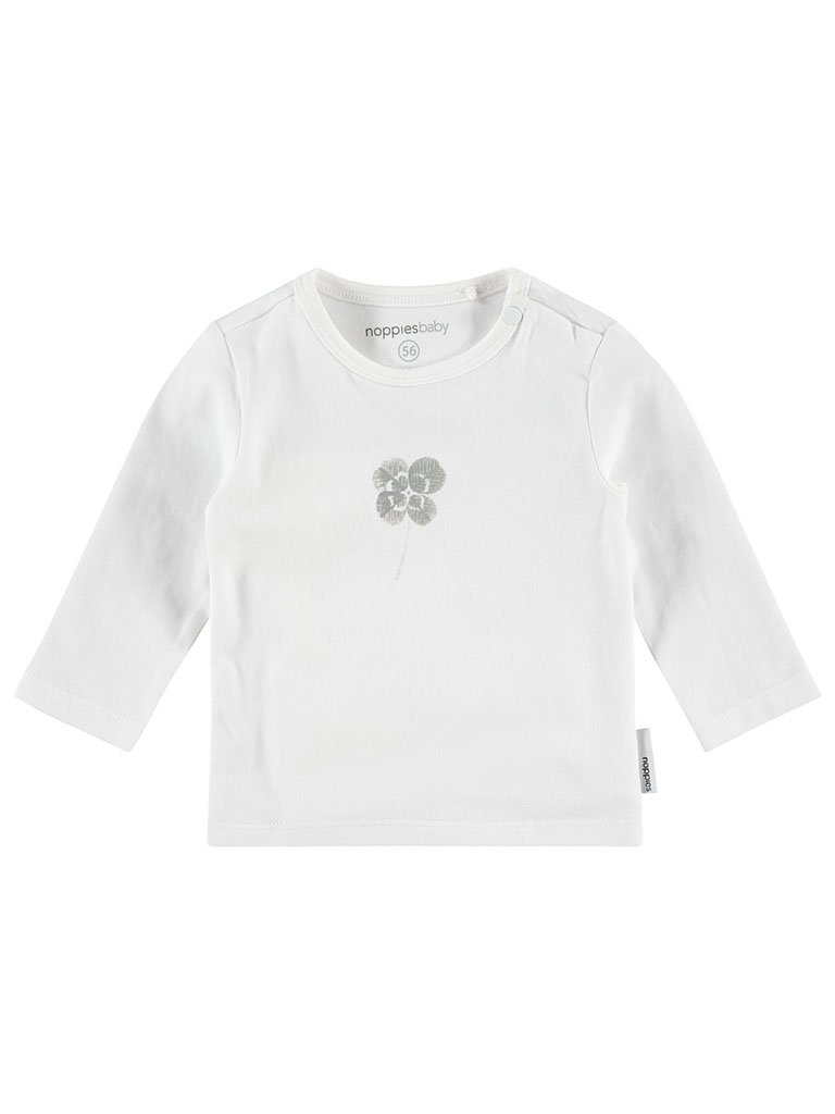 White Lucky Long sleeve Top - Organic (Tiny Baby)
