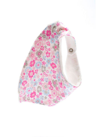 Organic Fair Trade Dribble Bib - Floral - Dribble Bib - Under The Nile - Little Mouse Baby Clothing & Gifts