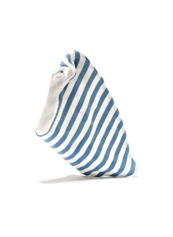 Organic Fair Trade Dribble Bib - Blue Stripe - Dribble Bib - Under The Nile - Little Mouse Baby Clothing & Gifts