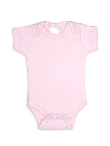 100% Cotton Classic Pink Short Sleeved Bodysuit (Tiny Baby, 4-7lb)