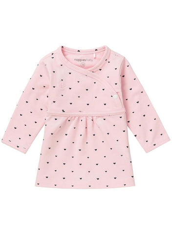 Pink Heart Wrapover Dress (3 Sizes)