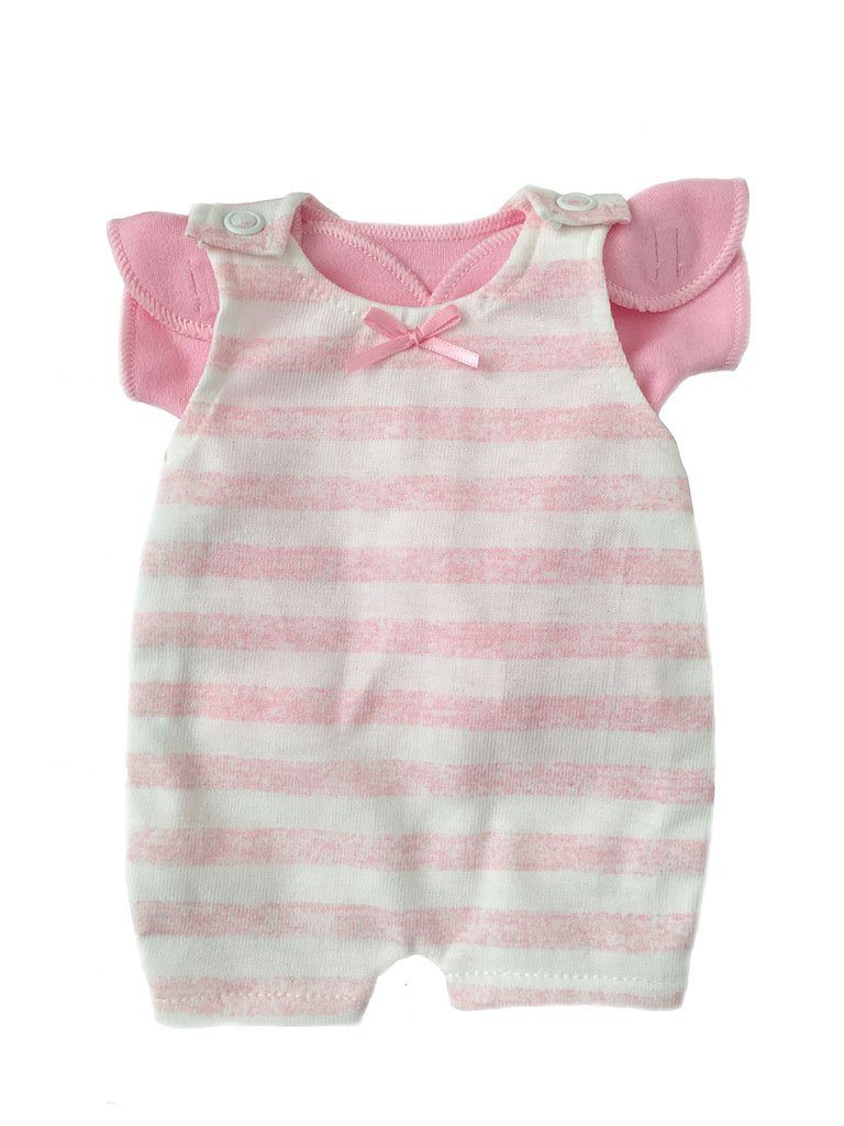 Pink & White Stripe Dungaree & T-shirt (Premature Baby, 1-3lb)