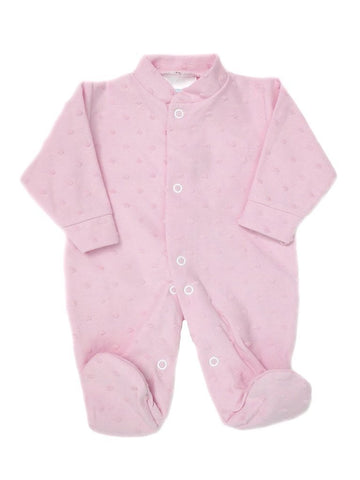Pink Tufted Footed Sleepsuit 3-5lbs & 5-8lbs