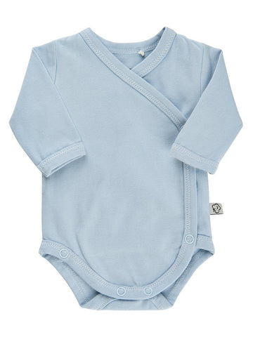 Organic Cotton Blue Wrapover Vest (3-6lb)