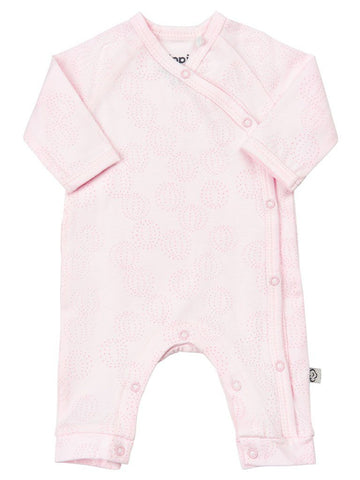 Organic Cotton Pale Pink Ball Design Print Footless Babygrow - 3-6lb