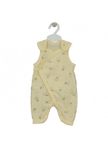 Cute Little Bear Dungaree, Yellow, 3-5lb