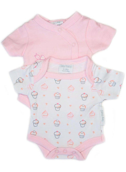 My Little Cupcake Baby Bodysuits, 2 Pack (3-5lb & 5-8lb)