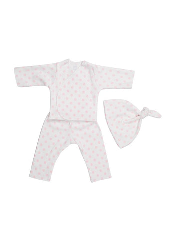 Dotty About Pink: Premature Baby Girl Clothing Set