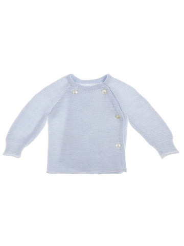 Knitted Light Blue Cardigan 3-5lb & 5-8lb