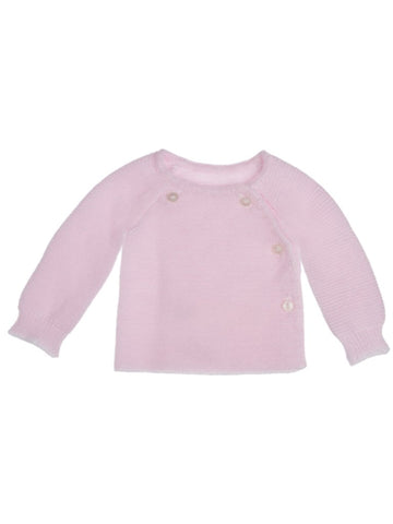 Knitted Light Pink Premature/Tiny Baby Cardigan 3-5lb & 5-8lb