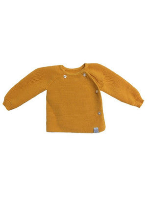 Knitted Mustard Cardigan (3-5lb, 5-8lb & 0-3 months)