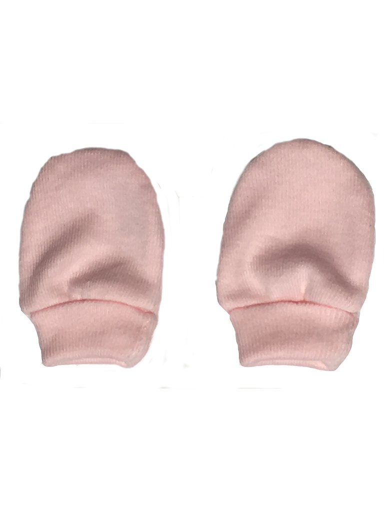 Tiny Baby Scratch Mitts - Pink, 4-7lb
