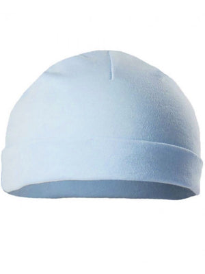 Blue Round Premature Baby Hat: (1.5-3.5lb)