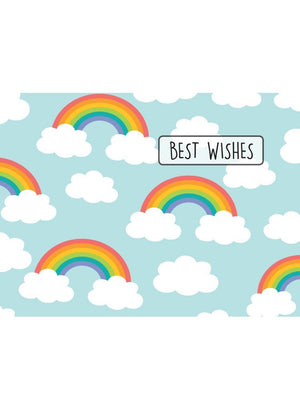 Best Wishes Rainbows Card - New baby card - Little Mouse Baby Clothing & Gifts