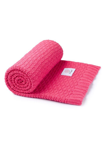 Raspberry Bamboo/Cotton Blanket - 100 x 80cm