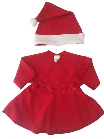 Premature Red Dress and Santa Hat Christmas Set (1.5 - 3.5 & 3-5lb)