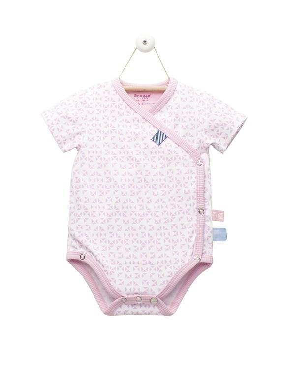 Pink Mosaic Wrap Romper With Tags (0-3 Months)